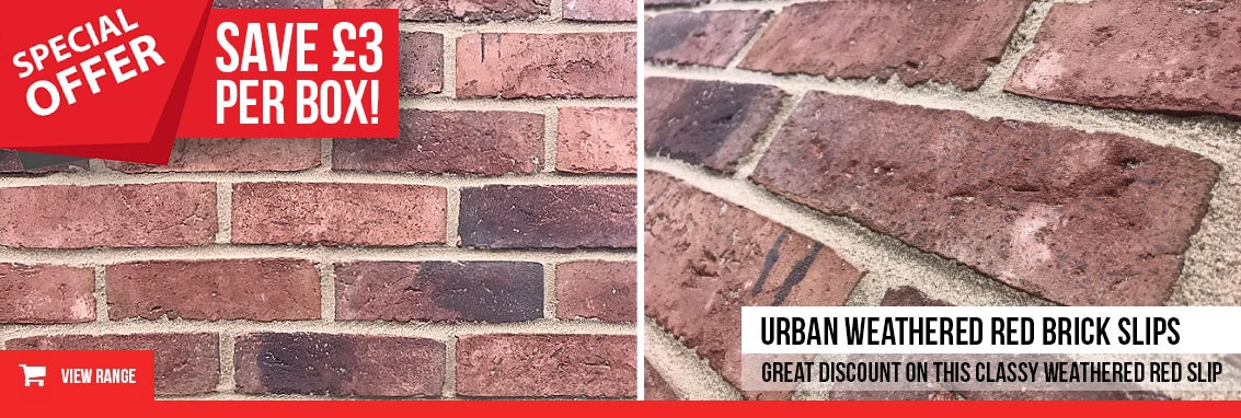 Urabn Weathered Red Brick Slips Saving