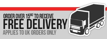 FREE Nationwide delivery on all orders over 10 meters square