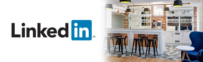 Linkedin office brick slips wall interior