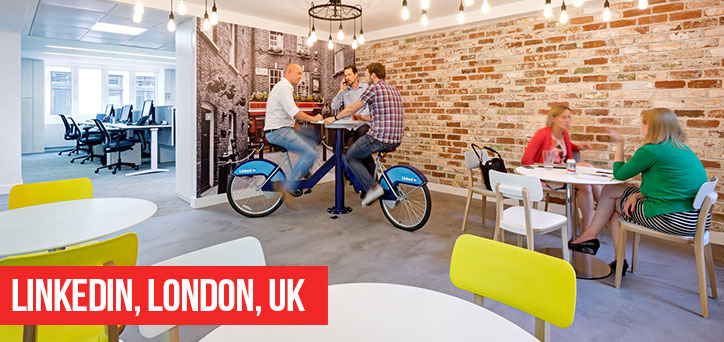 Linkedin London Office Reclaimed Brick Slips - brick slips in offices