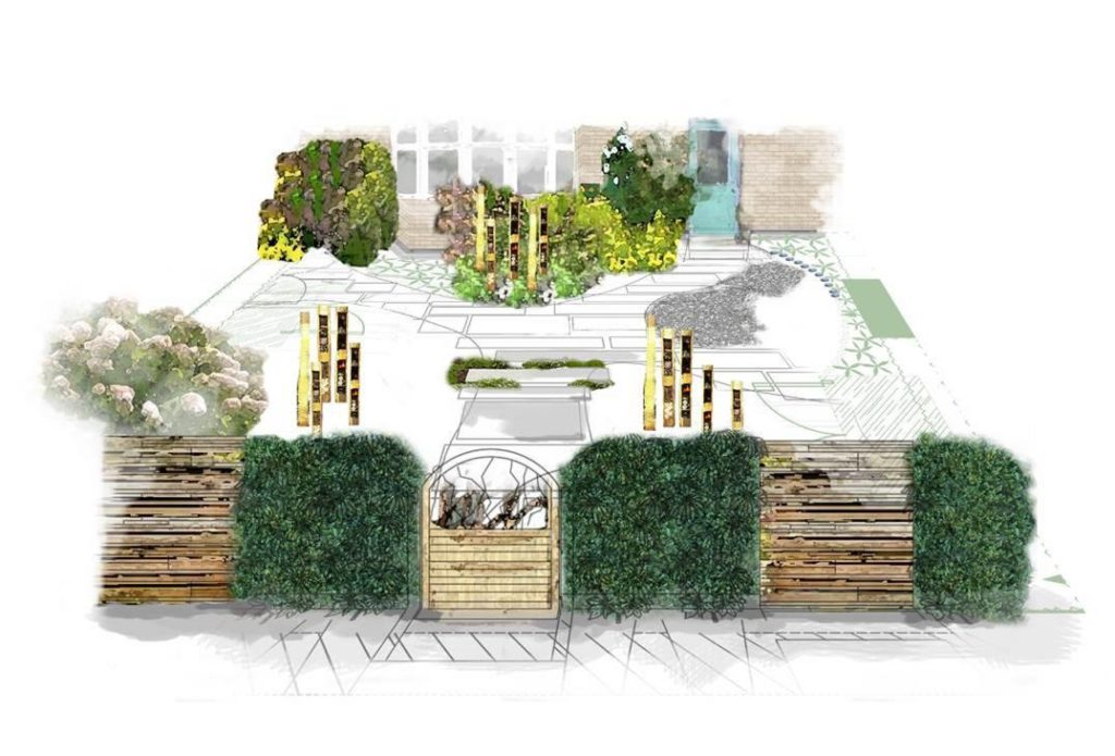 Gardeners world live stand illustration