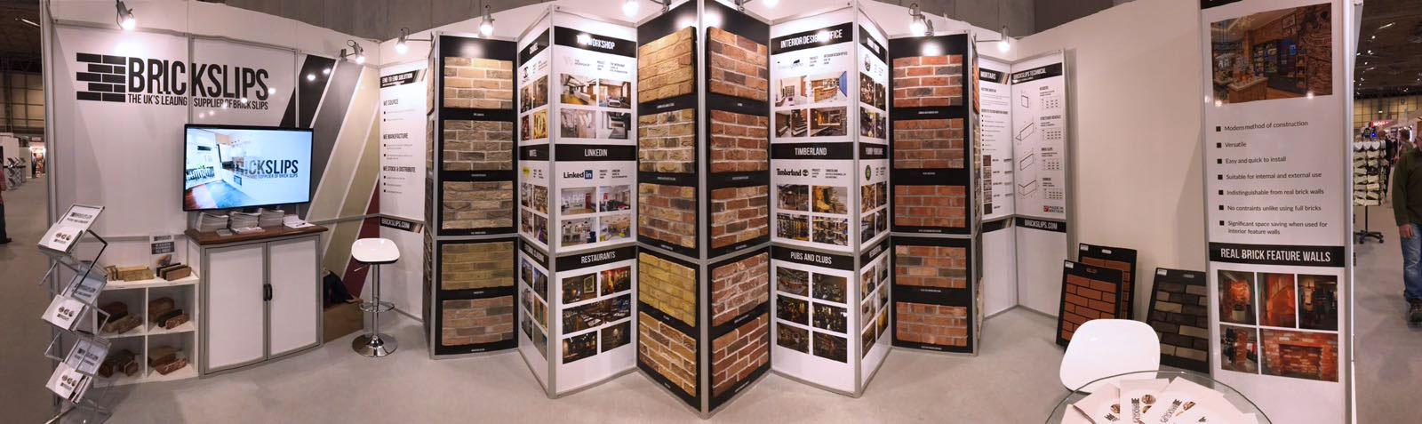 Brick Slips Trade Stand - Grand Designs Live