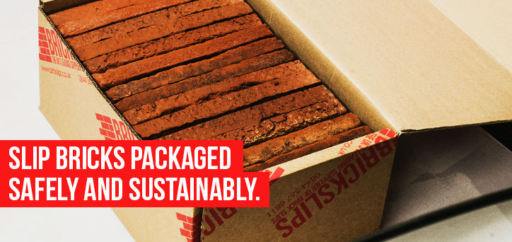 Brick Slips packaged safely