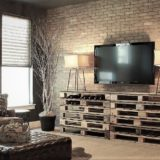 modern living room brick slips