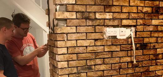 Installing brick slips