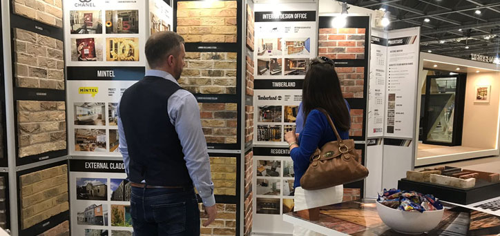 Brick Slips on stand at Grand Designs Live 2018