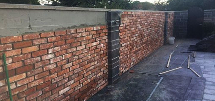 Brick Slips Garden Walls