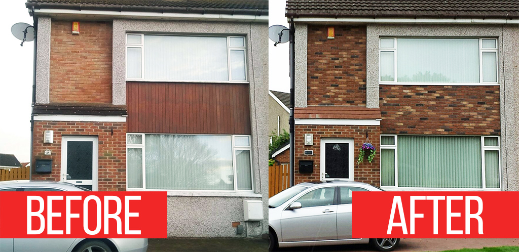 external cladding before after