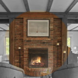 feature brick fireplace
