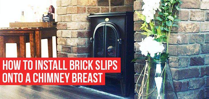 Brick Slips on Chimney Breast