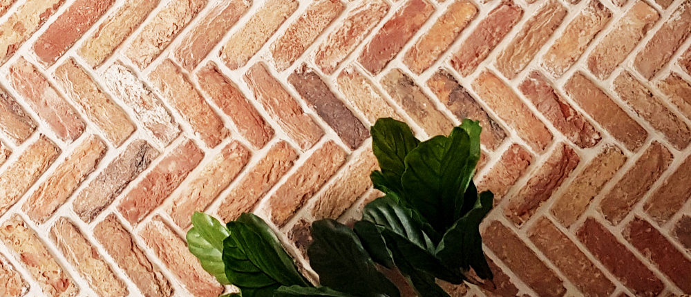 brickslips herringbone pattern