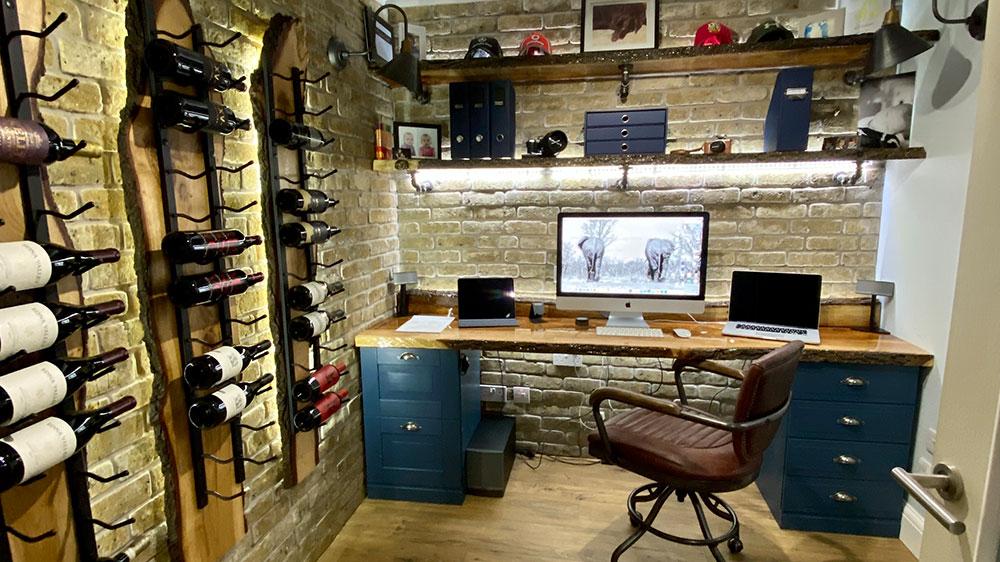 DIY Office Brick Slips