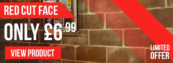 Brick Slips Offer - Reclaimed Red Cut Face only £6.99!